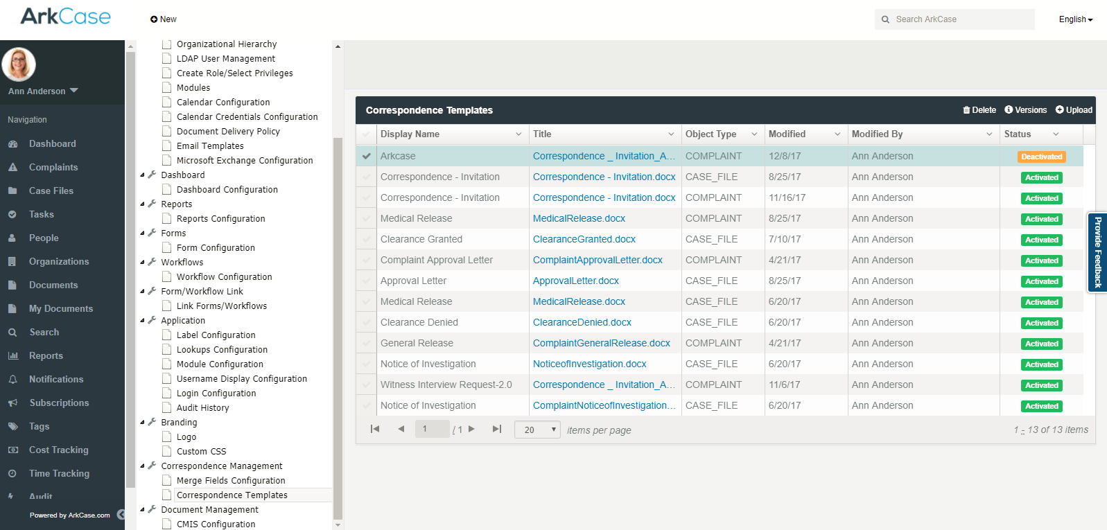 ArkCase v3.2.0 Enhanced Correspondence Management
