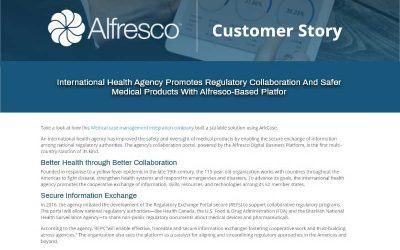 International Health Agency Promotes Regulatory Collaboration and Safer Medical Products with Alfresco-Based Platform