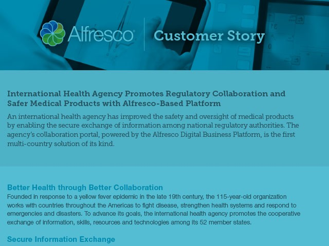 International-Health-Agency-Promotes-Regulatory-Collaboration-and-Safer-Medical-Products-with-Alfresco-Based-Platform