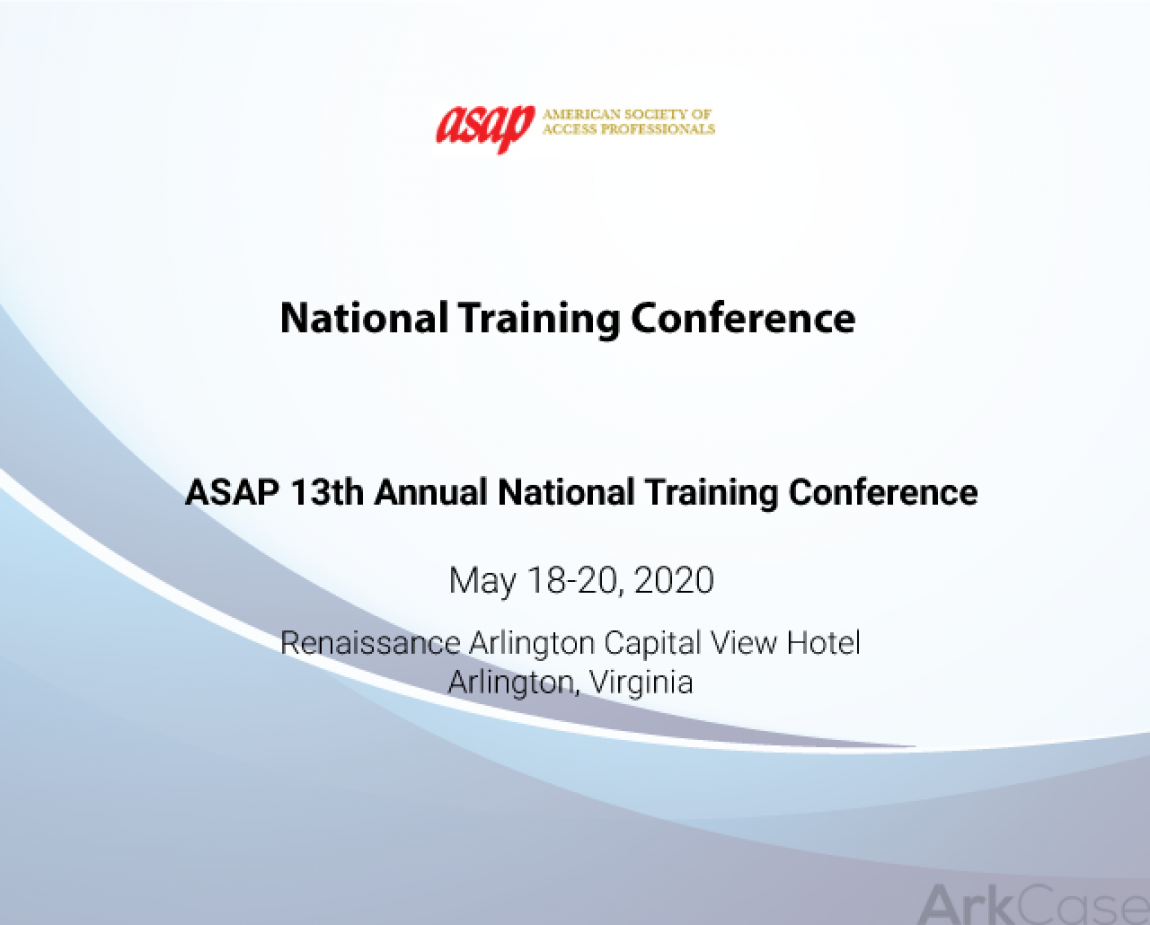 ASAP_13th_Annual_National_Training_Conference