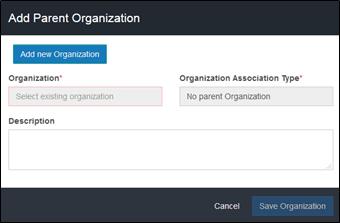 Add a Parent Organization