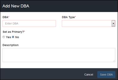 Add DBAs