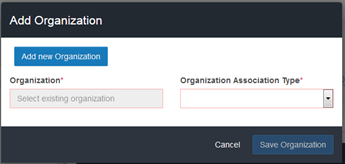 Add Organizations