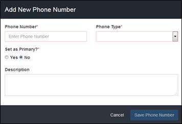 Add Phone Numbers