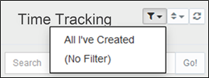 Filter the list of Timesheets