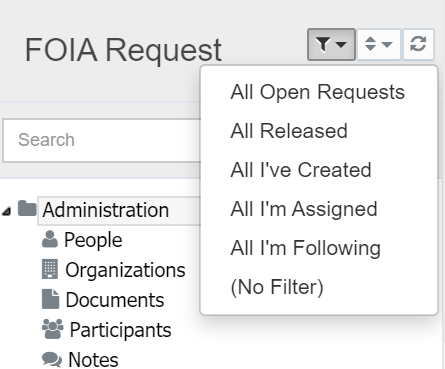Filter the Request List