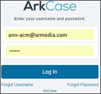 How To Login Into ArkCase