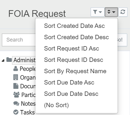 Sort the Request List