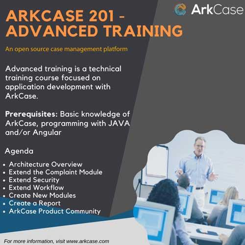 Generic ArkCase advanced training ad